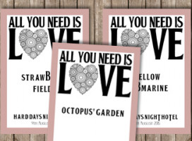 All you need is love – Table Signs
