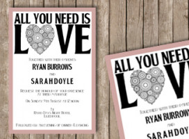 All you need is love – Postcard invitation A6 Double sided