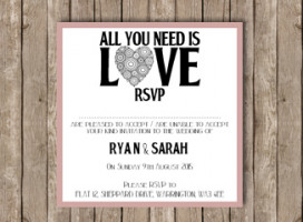 All you need is love – RSVP card