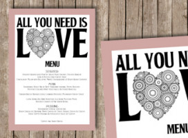 All you need is love – Menu
