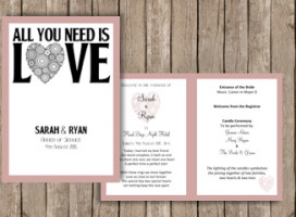 All you need is love – Order of Service Booklet A5 (4 Pages)