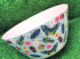 Butterfly's & Beetles Bamboo Salad Bowl